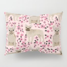 French Bulldog fawn coat cherry blossom florals dog pattern floral dog breeds Pillow Sham