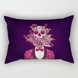 Skull Blossom Rectangular Pillow