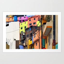 Little boxes on the hillside Art Print