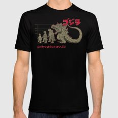 Evolution of The King of Monsters MEDIUM Black Mens Fitted Tee