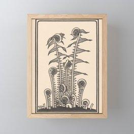 Nouveau Fiddleheads Framed Mini Art Print