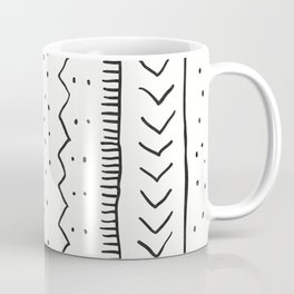 Moroccan Stripe in Cream and Black Coffee Mug