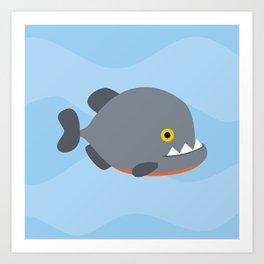 Piranhas pattern Art Print