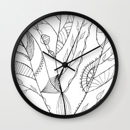 Amazing Leaves Wall Clock