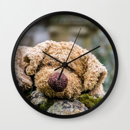 The lonely teddy Wall Clock