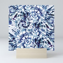 Blue Dye and Tie Mini Art Print