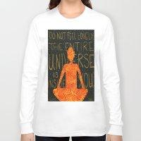 buddha Long Sleeve T-shirts featuring Buddha by Zoë Miller