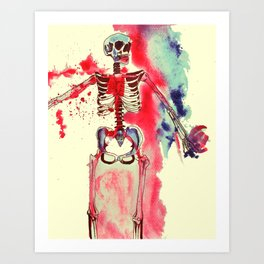 Mr. Skeleton Art Print