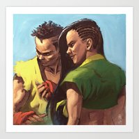 Street Fighter: Sean and Laura Art Print