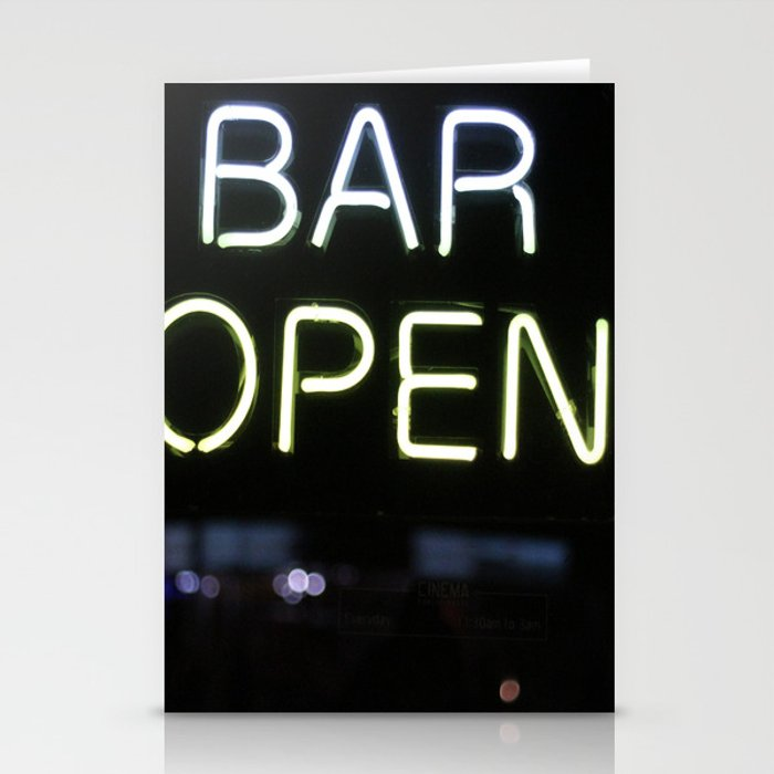 Bar Open Stationery Cards
