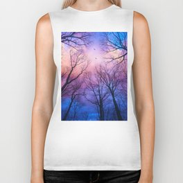 A New Day Will Dawn  (Day Tree Silhouettes) Biker Tank