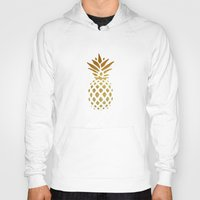 pineapple Hoodies featuring Golden Pineapple by Pati Designs & Photography