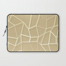 Floating Shapes Gold - Mid-Century Minimalist Graphic Laptop Sleeve