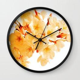WARM BLOSSOMS Wall Clock