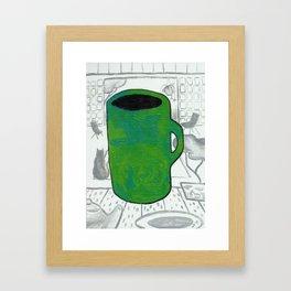 Jade Cup Framed Art Print