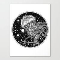 jellyfish Canvas Prints featuring Jellyfish by Corinne Elyse