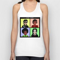 michael jackson Tank Tops featuring Michael Jackson History  by Pixel Faces