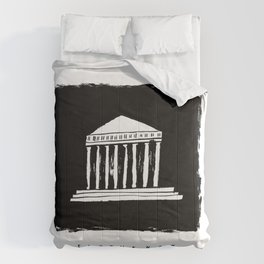 Parthenon in ink Comforters