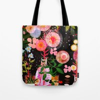 carousel Tote Bags featuring carousel by Danse de Lune