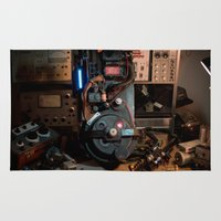 "ghostbusters Area & Throw Rugs featuring Ghostbusters - ""Workbench"" 2  by Matthew Clark"