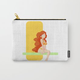 Cute red head pin-up / Mignonne pin-up rousse Carry-All Pouch