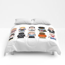 Pixel Pulp Fiction Characters Comforters