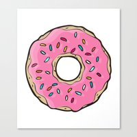 doughnut Canvas Prints featuring Doughnut by Sara Eshak