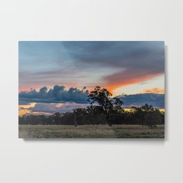 Country Victoria sunset Metal Print