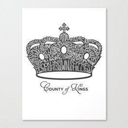 County of Kings   Brooklyn NYC Crown (GREY) Canvas Print