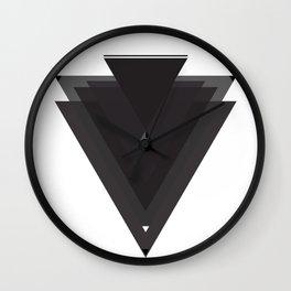 Black Trangles Wall Clock