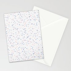 Speckles I: Rose Quartz & Serenity on Snow Stationery Cards