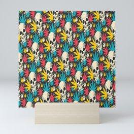 SKULL CANNABIS PATTERN Mini Art Print