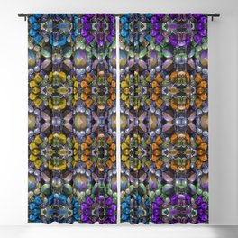 Vintage Colored Beads Blackout Curtain