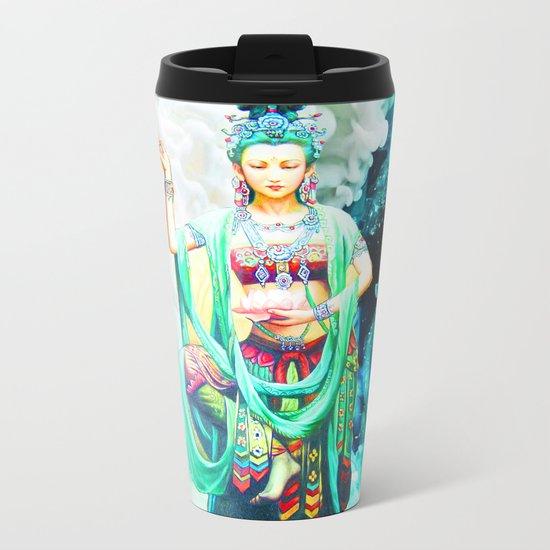 The Goddess of Mercy Metal Travel Mug