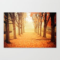 The Poetry of Autumn Canvas Print