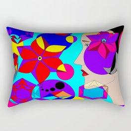 Pinwheels and Shapes Abstract Lady Rectangular Pillow