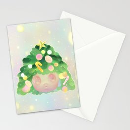 'Happy-C', Cute Colorful  Holidays Christmas Pastel Stationery Cards