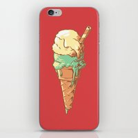 ice cream iPhone & iPod Skins featuring Ice Cream by Fightstacy
