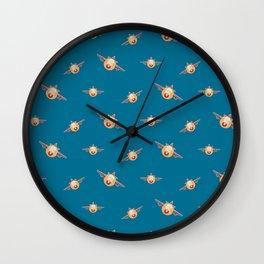 Cute plane pattern Wall Clock