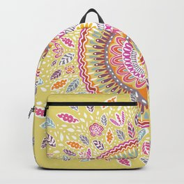 Yellow Sunflower Mandala Backpack