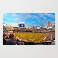 minnesota Area & Throw Rugs featuring Minnesota Twins by John Andrews Design