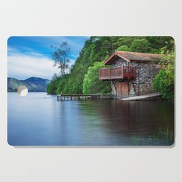 Smooth as Glass Lake and Boathouse Cutting Board