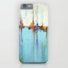 "Abstract White and Blue Painting – Textured Art – ""Sailing""  iPhone 6s Slim Case"