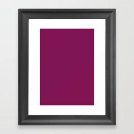 French plum Framed Art Print