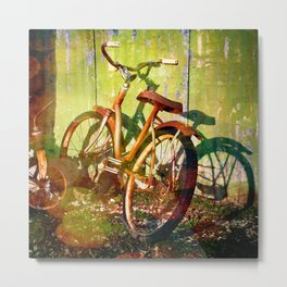 Rusty Bokeh Bike Metal Print