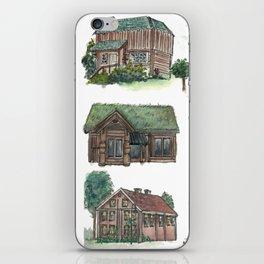 Norwegian Houses iPhone Skin
