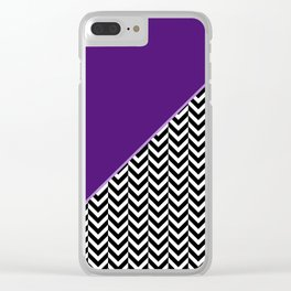 Chevron and Purple Print Clear iPhone Case