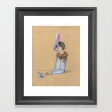 Alle Macht dem Kaninchen Framed Art Print