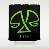 libra Shower Curtains featuring Libra by Groovyal