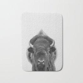 buffalo portrait Bath Mat